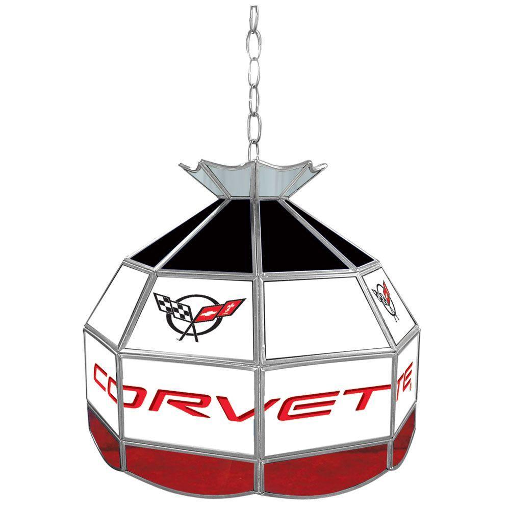 Trademark Global Corvette 16 In. Silver Hanging Tiffany