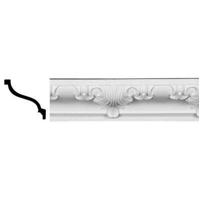 7 in. x 8-3/4 in. x 96 in. Polyurethane Alexandria Crown Moulding