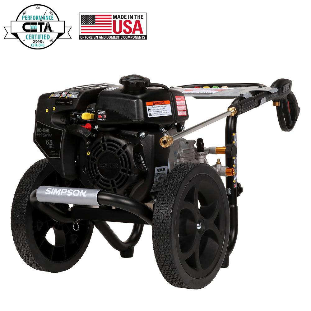 Simpson SIMPSON MS60763 3100 PSI at 2.4 GPM gas pressure washer powered by KOHLER