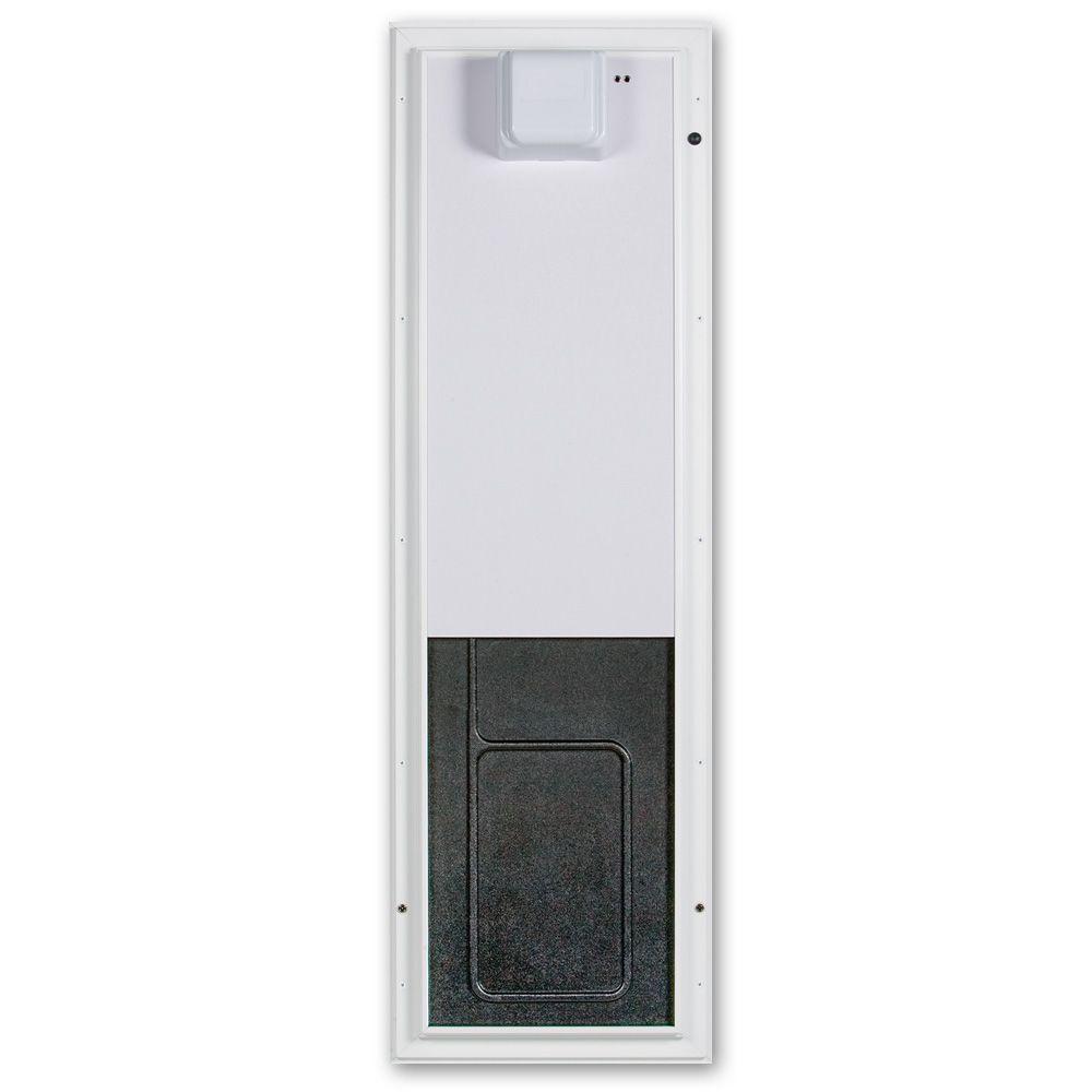 PlexiDor Performance Pet Doors 12.75 in. x 20 in. Large White Door Mount Electronic Dog Door