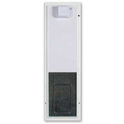 12.75 in. x 20 in. Large White Door Mount Electronic Dog Door