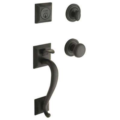 Madison Double Cylinder Oil Rubbed Bronze Door Handleset with Classic Knob