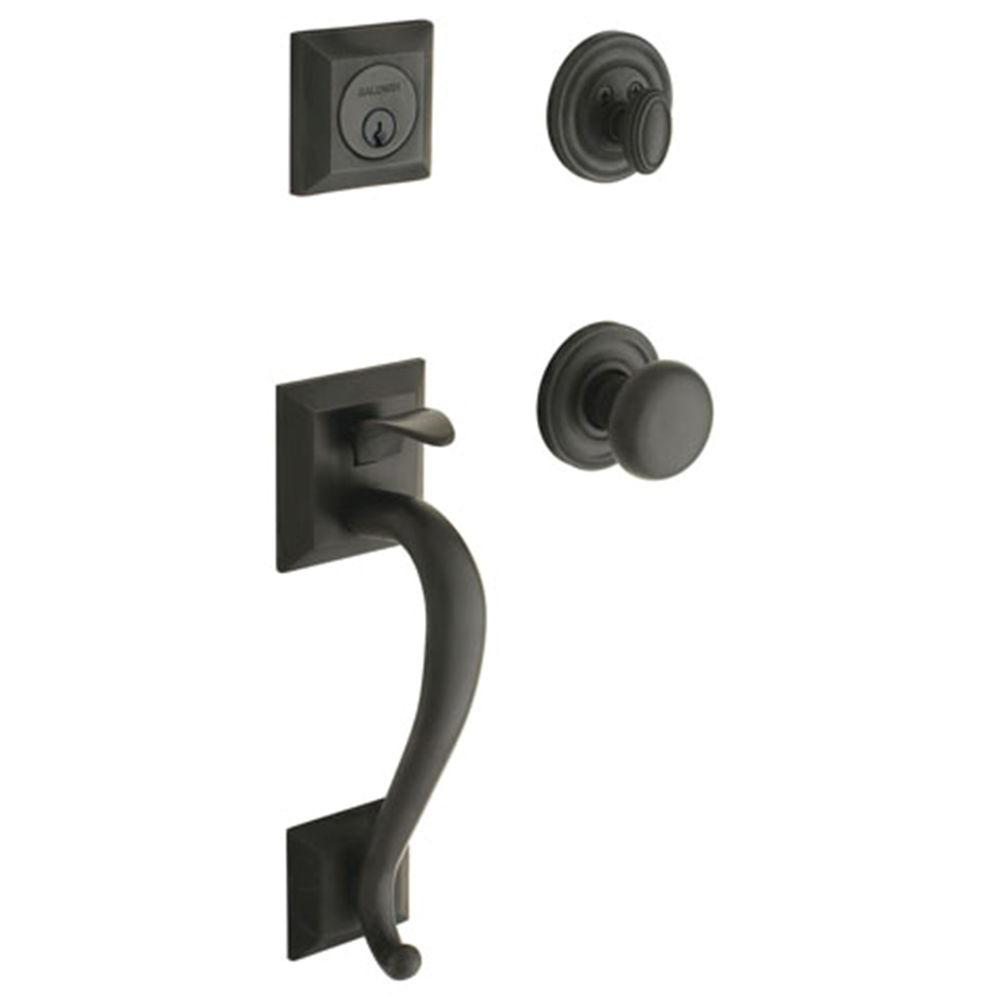 Baldwin Madison Single Cylinder Oil Rubbed Bronze Handleset with Classic Knob