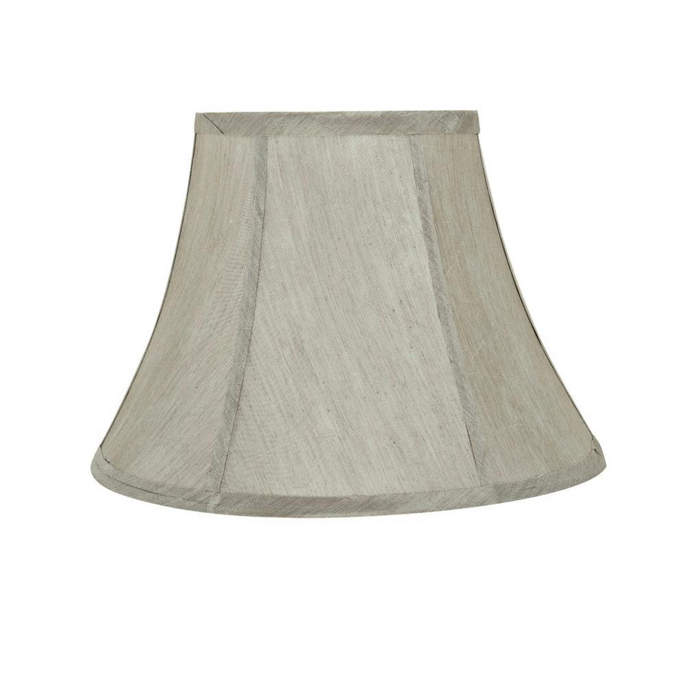 Silver grey lamp shades lamps the home depot silver grey bell lamp shade aloadofball Choice Image