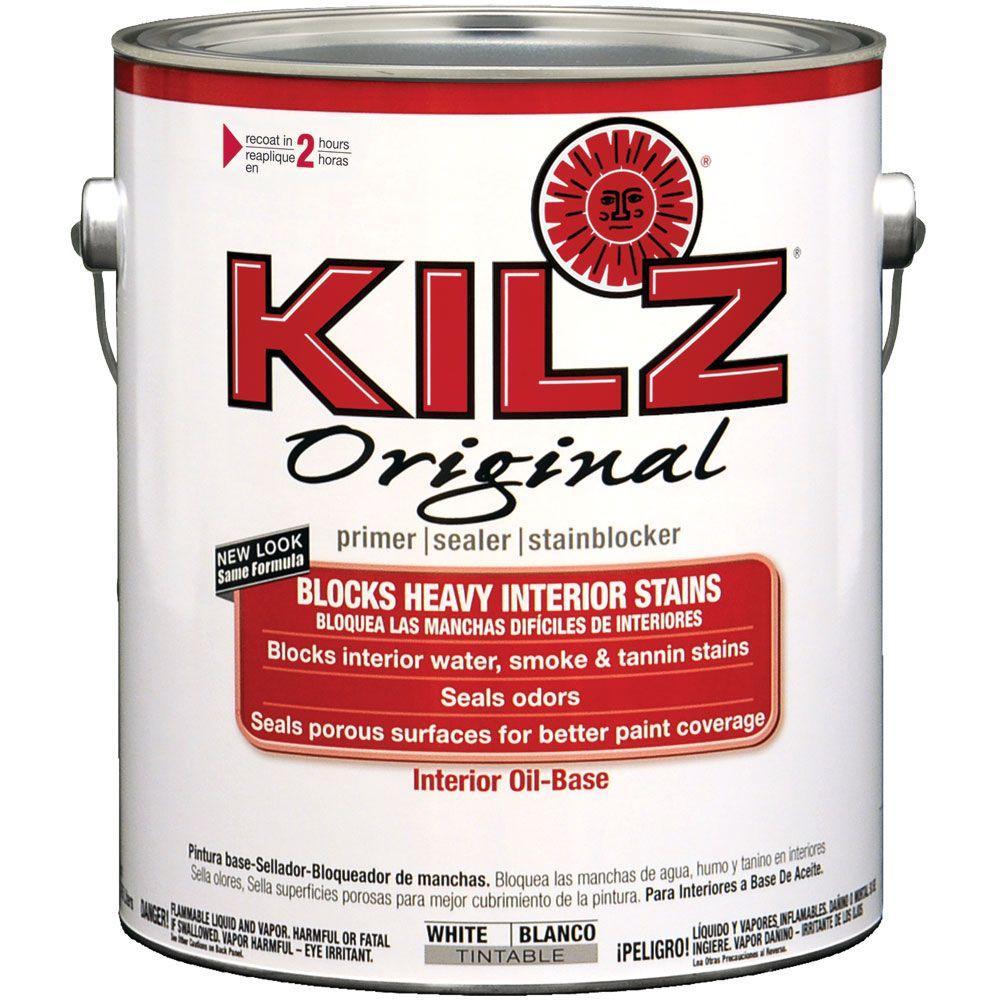 KILZ Original 1 gal. White Low-VOC Oil-Based Interior Primer ...