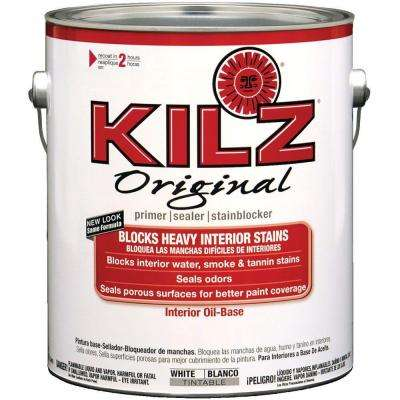 Original 1 gal. White Low-VOC Oil-Based Interior Primer, Sealer and Stain-Blocker