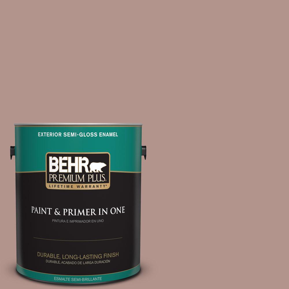 1-gal. #180F-4 Desert Willow Semi-Gloss Enamel Exterior Paint