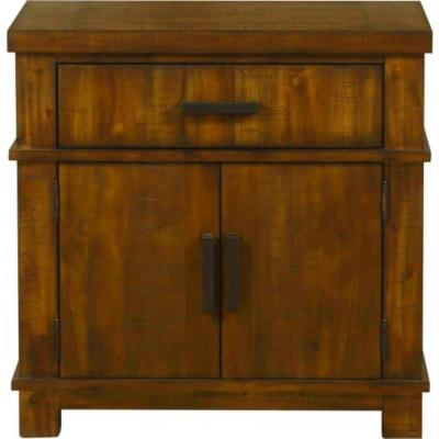 HomeRoots Amelia 2-Drawer 17 in. x 29 in. x 29 in. Cherry Oak Wood Nightstand