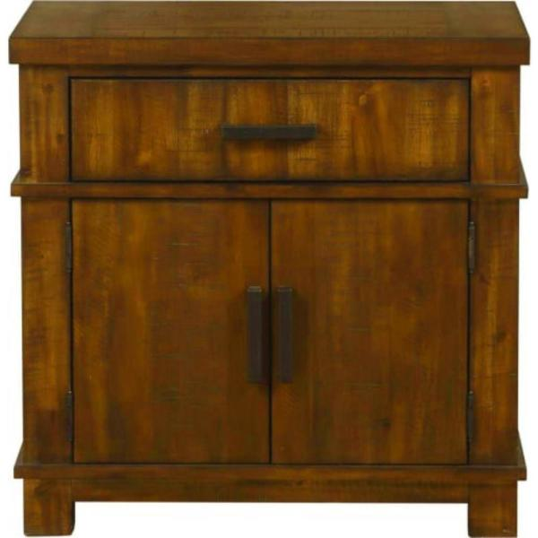 Amelia 2-Drawer 17 in. x 29 in. x 29 in. Cherry Oak Wood Nightstand