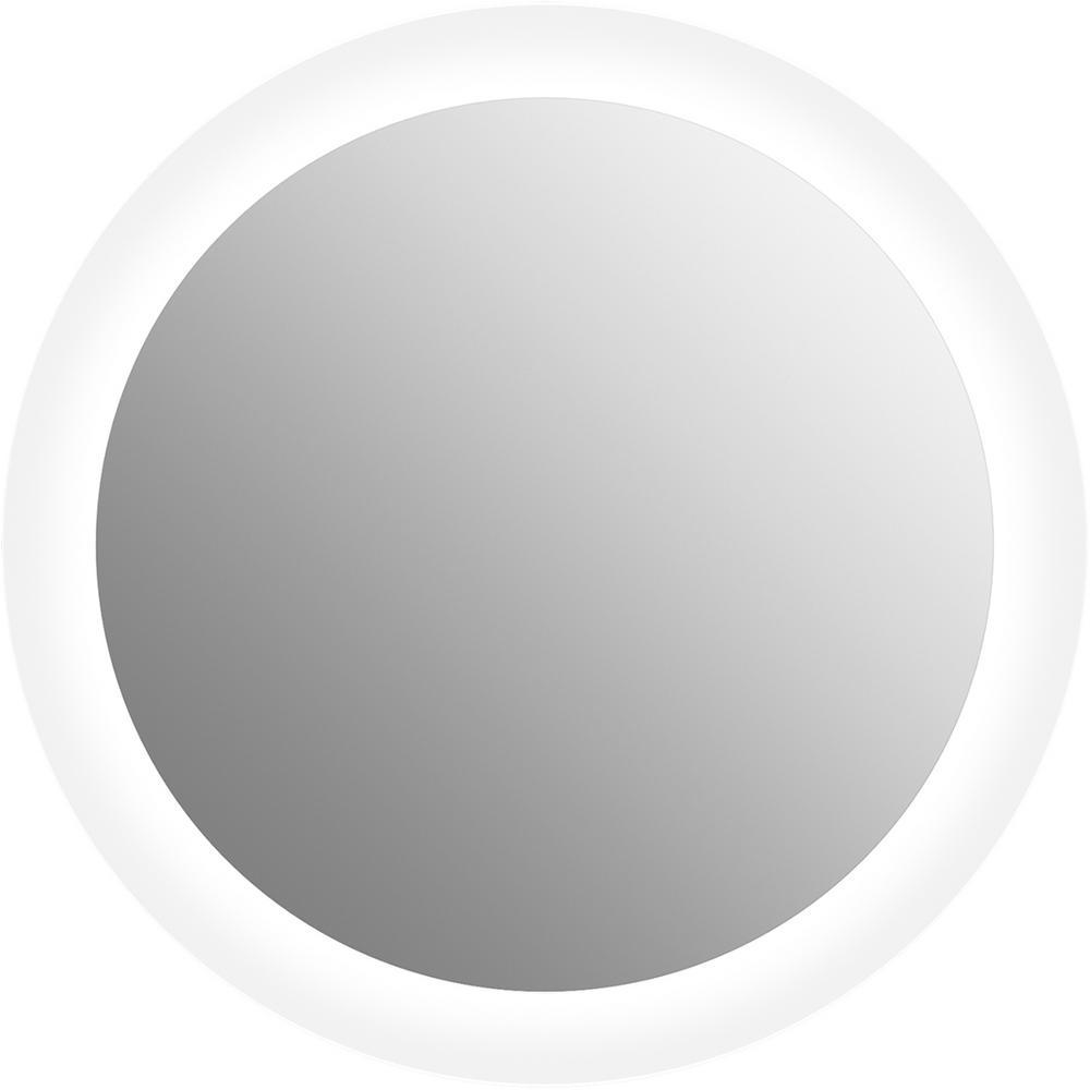 23 in. W x 23 in. H Frameless Circle LED Light Bathroom Vanity Mirror