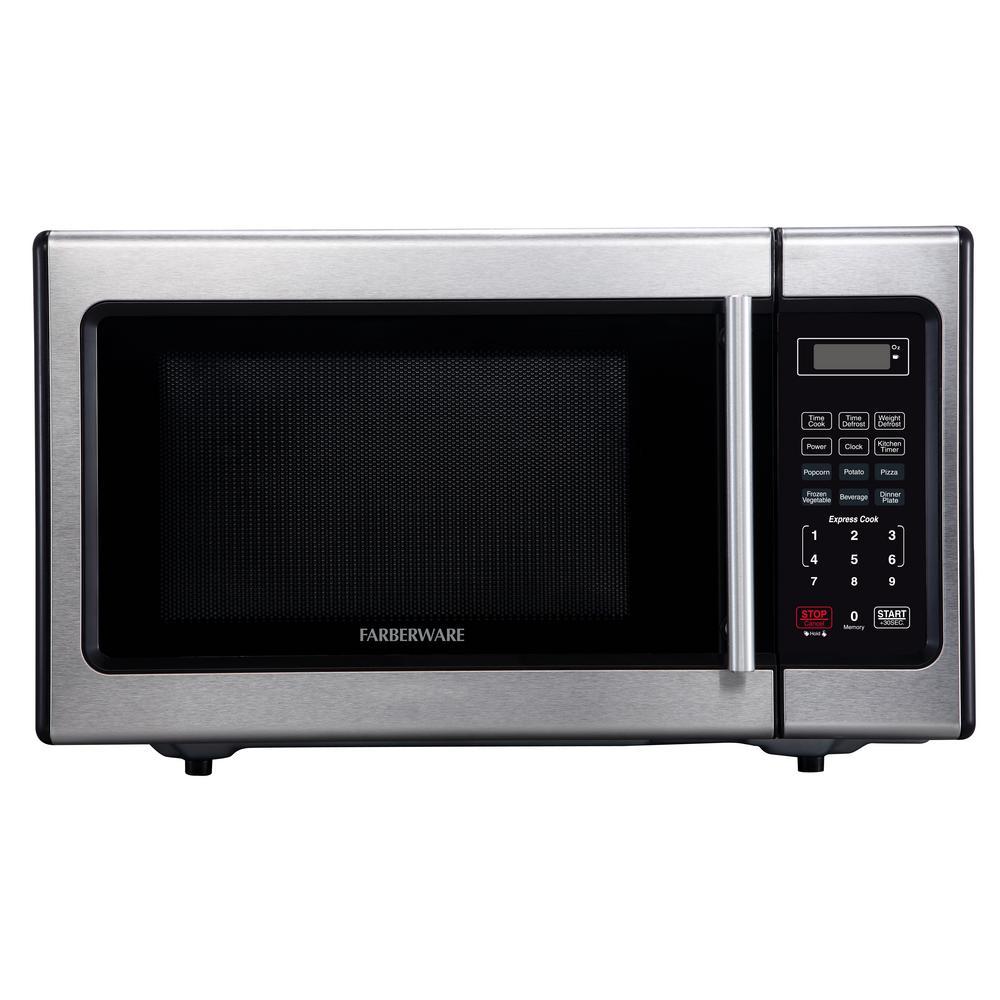 Farberware Classic 0.9 cu. Ft. Countertop Microwave in Stainless Steel