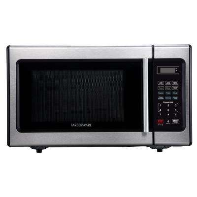 Classic 0.9 cu. Ft. Countertop Microwave in Stainless Steel