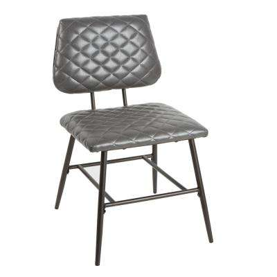 Deandra Gray Diamond Stitching Dining Chair