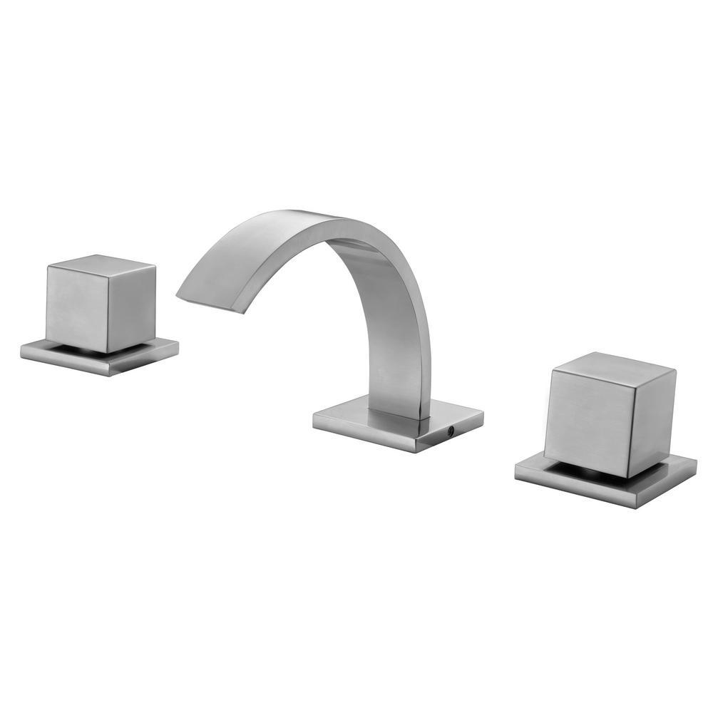 AB1326-BN 8 in. Widespread 2-Handle Luxury Bathroom Faucet in Brushed Nickel