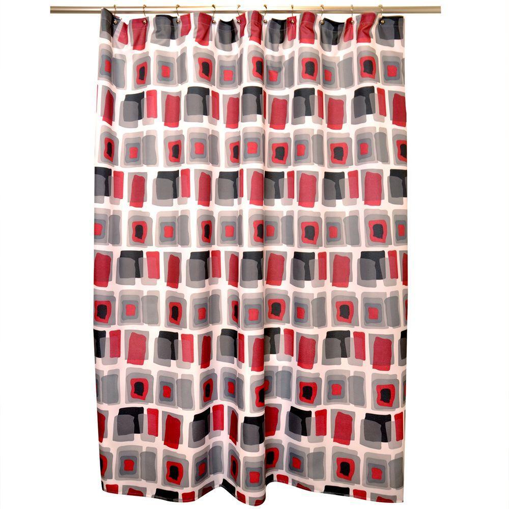 Watercoloured Geo Shower Curtain