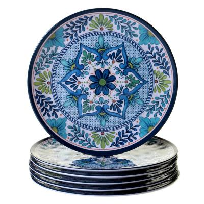 Talavera 6-Piece Blue Dinner Plate Set