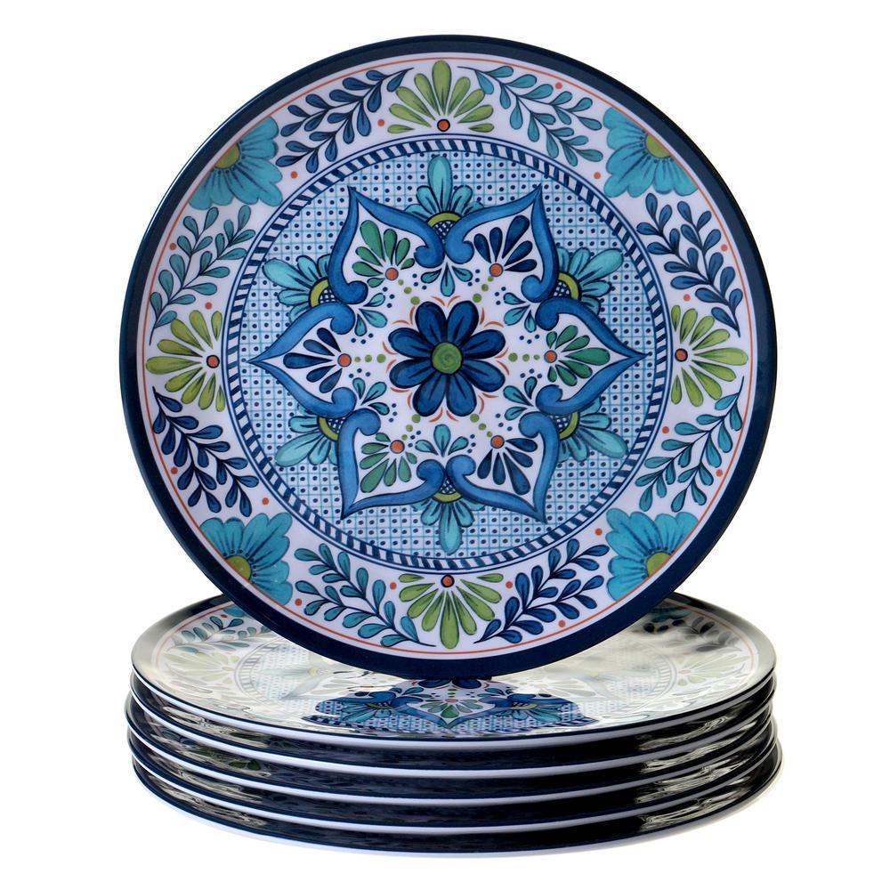 Certified International Talavera 6-Piece Blue Dinner Plate Set  sc 1 st  Home Depot & Certified International Talavera 6-Piece Blue Dinner Plate Set ...