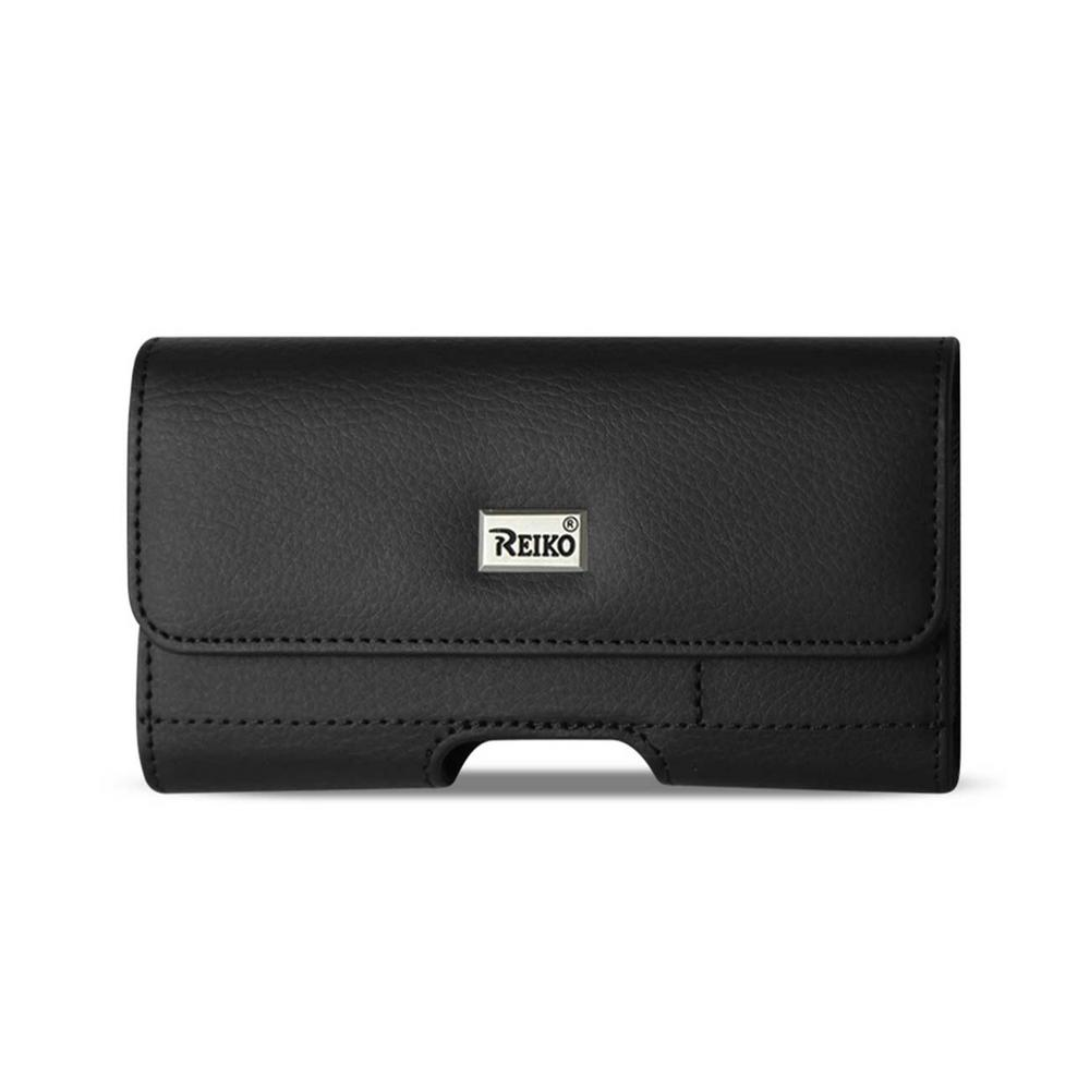 REIKO Large Horizontal Leather Holster in Black