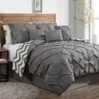 Ella Gray Solid Queen Comforter