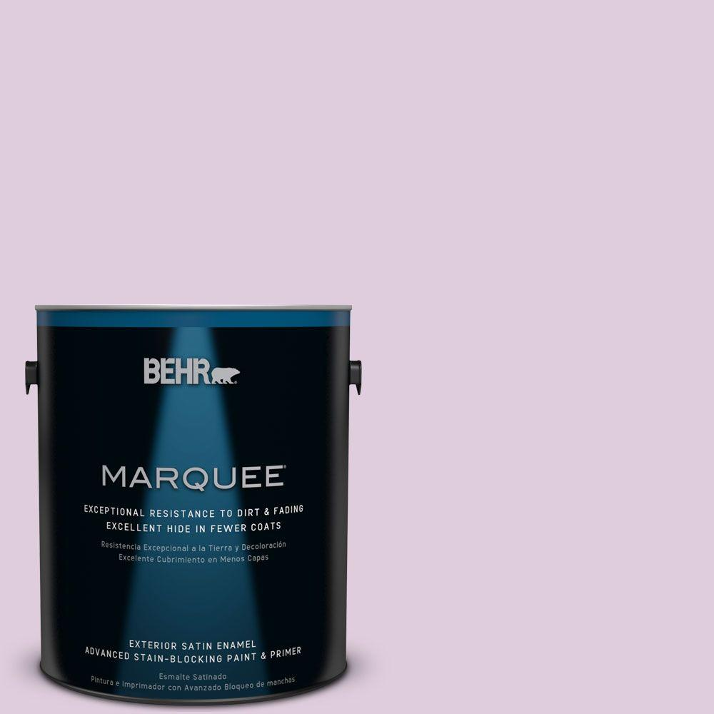 1-gal. #M110-2 Cassia Buds Satin Enamel Exterior Paint