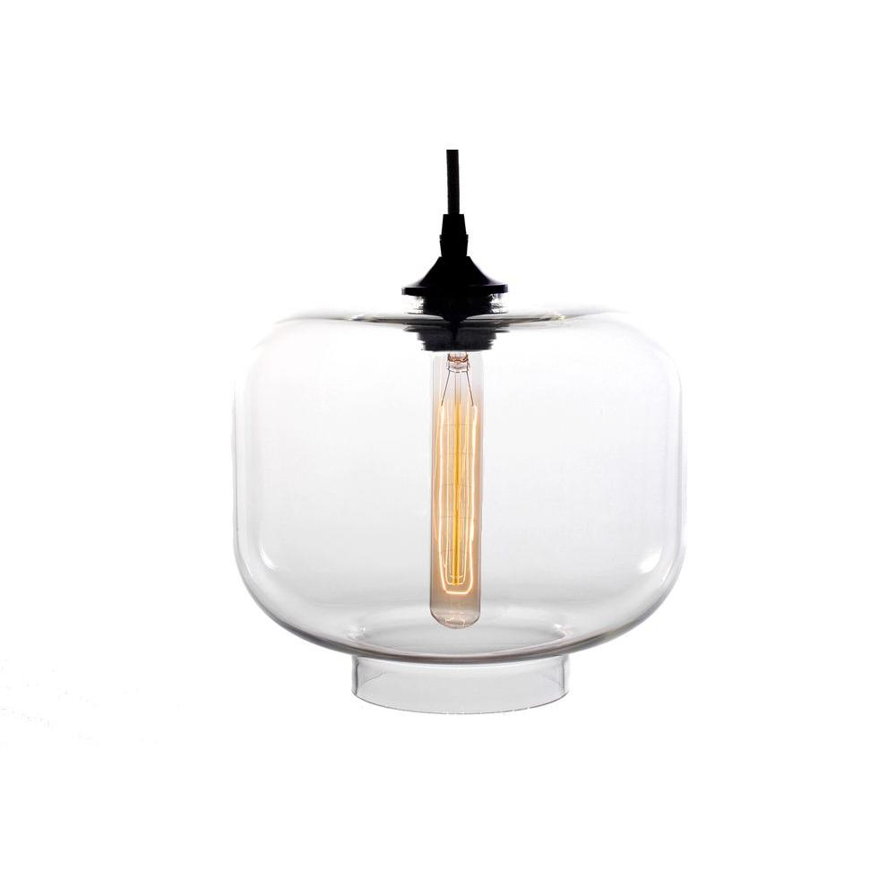 Warehouse of Tiffany Xavier 1-Light Black Pendant with Clear Glass