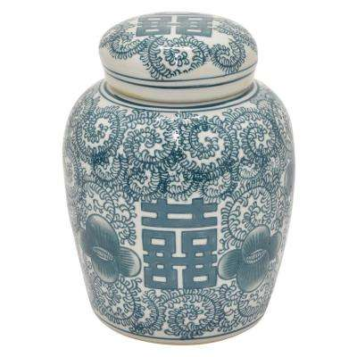 7.5 in. Green Ceramic Jar