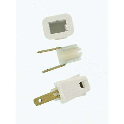 10 Amp 2-Pole Straight Blade Plug, White
