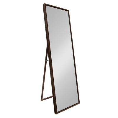 Evans Rectangle Walnut Brown Leaning Mirror