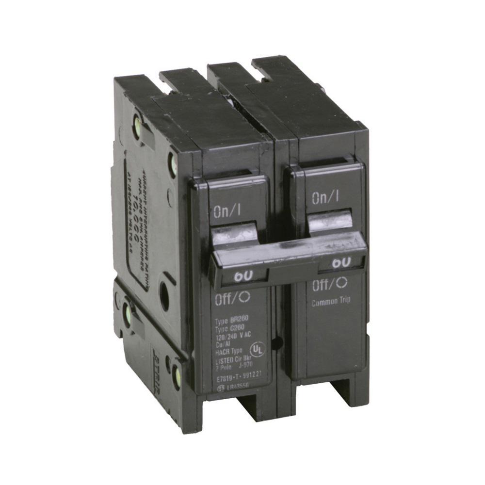 EATON CUTLER HAMMER Type BR Circuit Breaker 2 Pole 60 Amp BR260