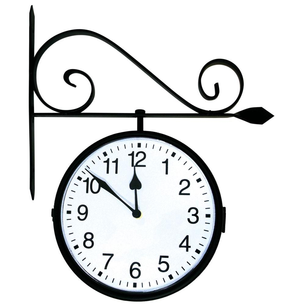 Dual Sided Hanging Clock