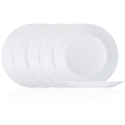 Harena White Dinner Plate Set (6-Piece)