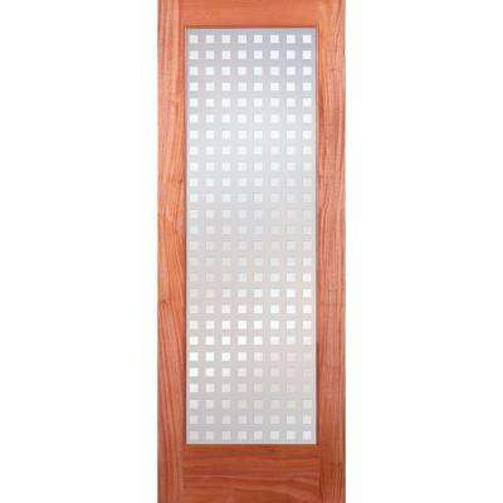 Multicube Woodgrain 1 Lite Unfinished Cherry Interior Door Slab