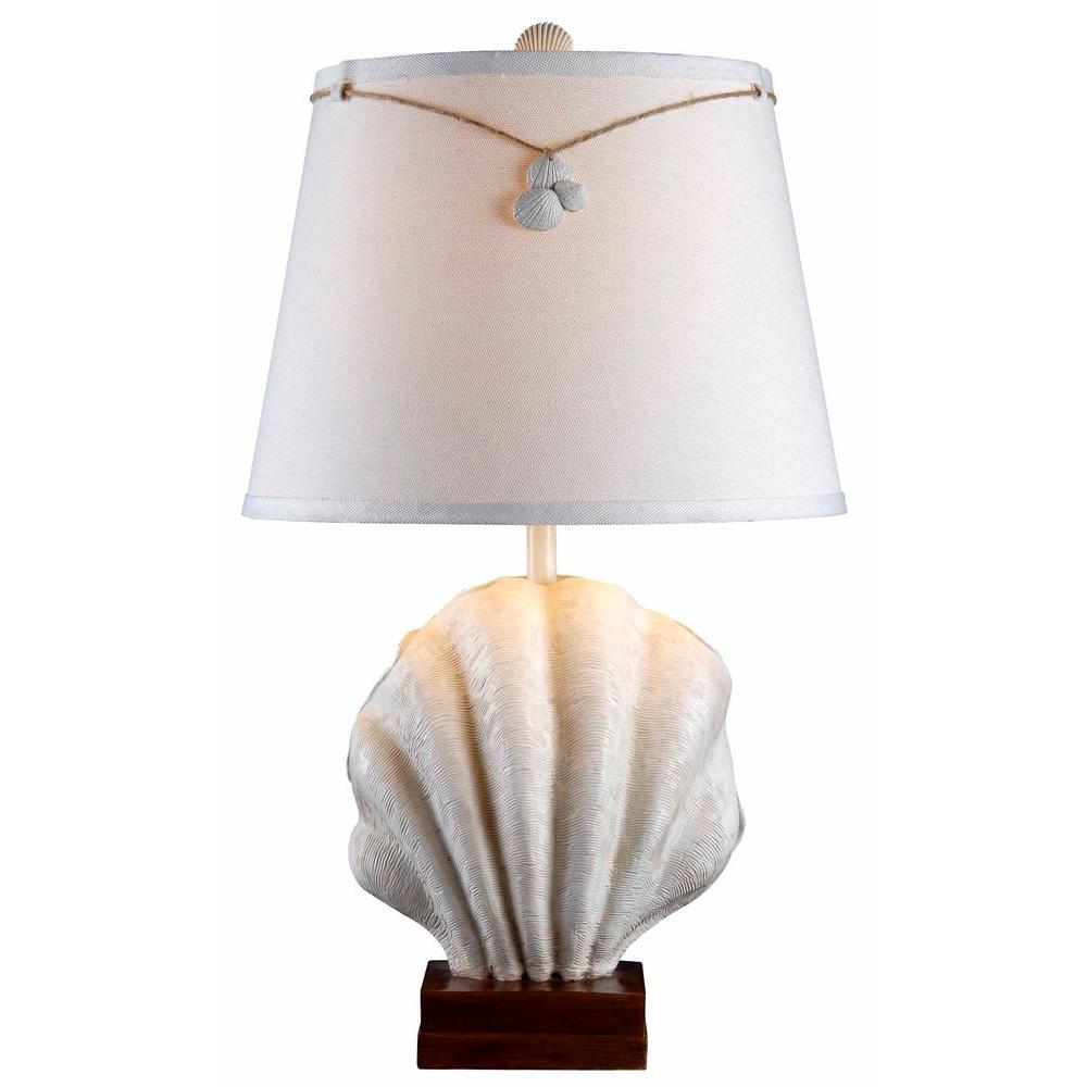Islander 29 in. Antique White Table Lamp