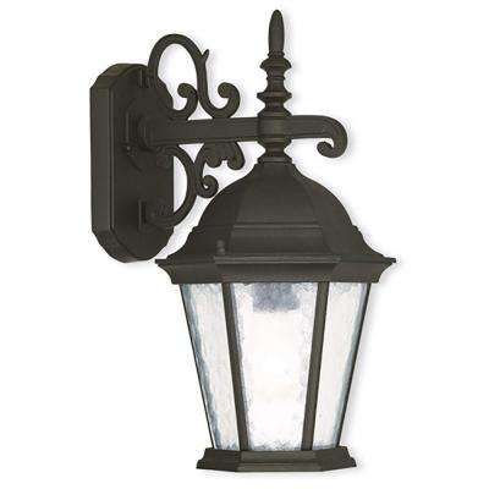 Hamilton 3-Light Textured Black Outdoor Wall Lantern