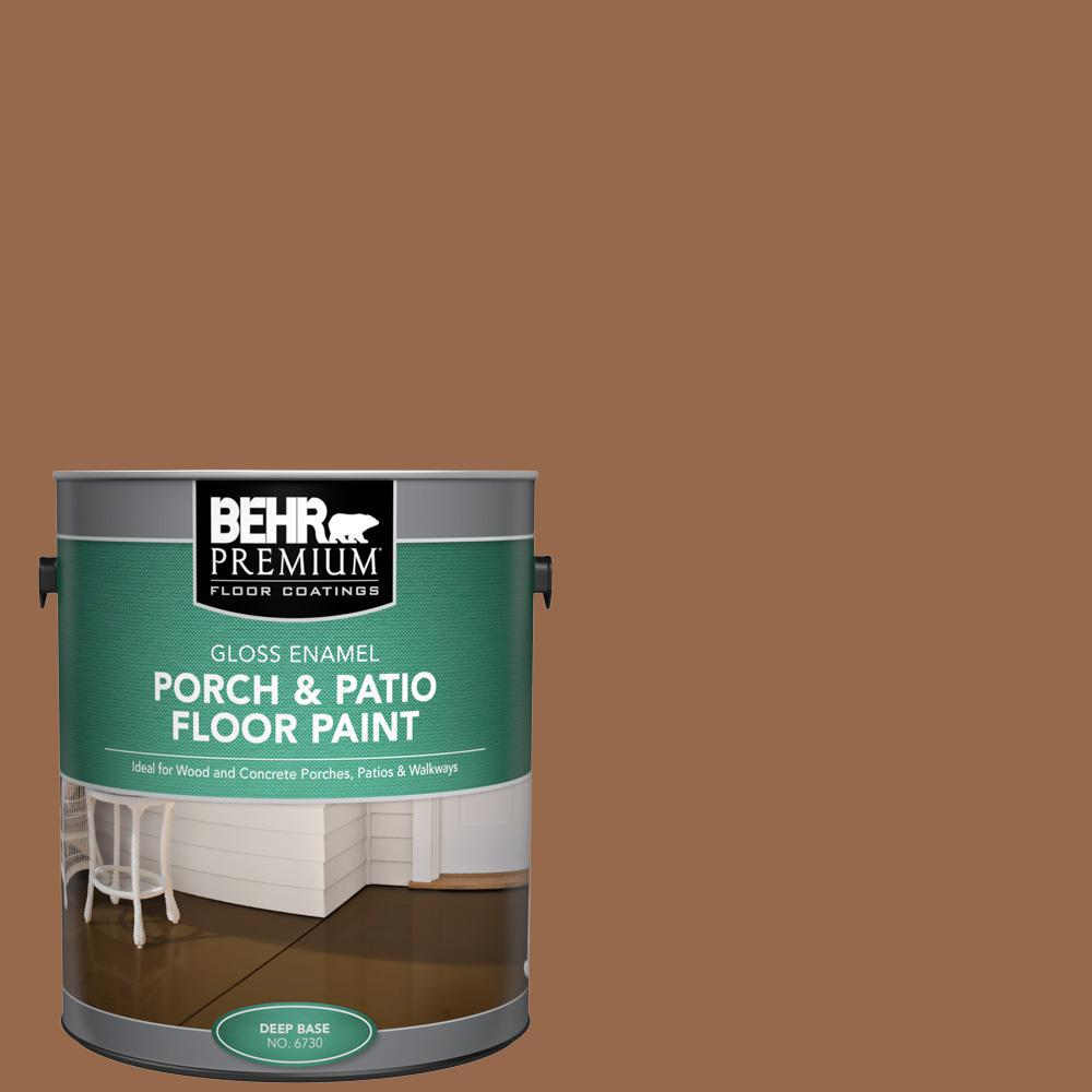 Behr Premium 1 Gal S230 7 Toasted Bagel Gloss Enamel Interior Exterior Porch And Patio Floor Paint 673001 The Home Depot
