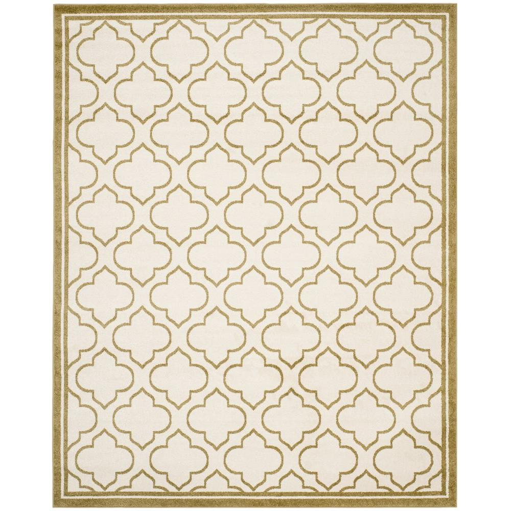 Amherst Ivory/Light Green 9 ft. x 12 ft. Indoor/Outdoor Area Rug