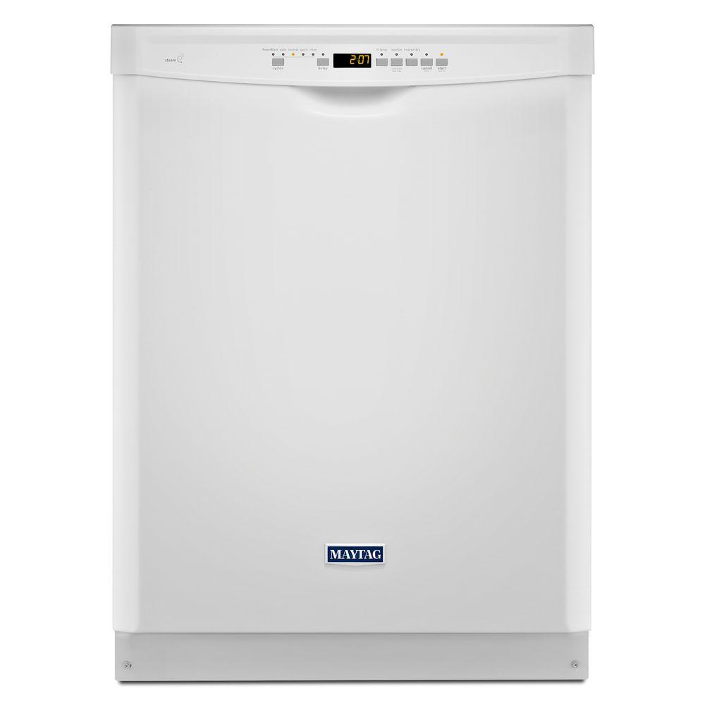 24 in. Front Control Built-in Tall Tub Dishwasher in White with