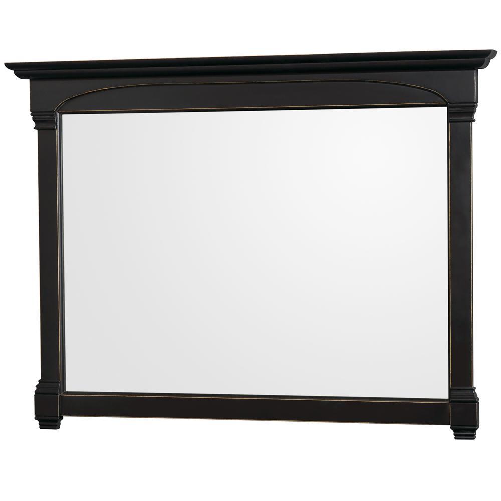 Andover 56 in. W x 41 in. H Framed Rectangular Bathroom Vanity Mirror in Black