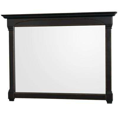 Andover 56 in. W x 41 in. H Framed Wall Mirror in Black