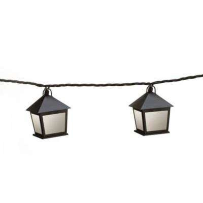 8.5 ft. Outdoor/Indoor Lantern Plug in LED String Light with Shade