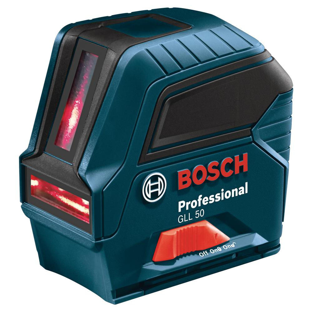 Bosch 65 Ft Self Leveling Cross Line Laser Level With Plumb Points Gll 3 15 Mini