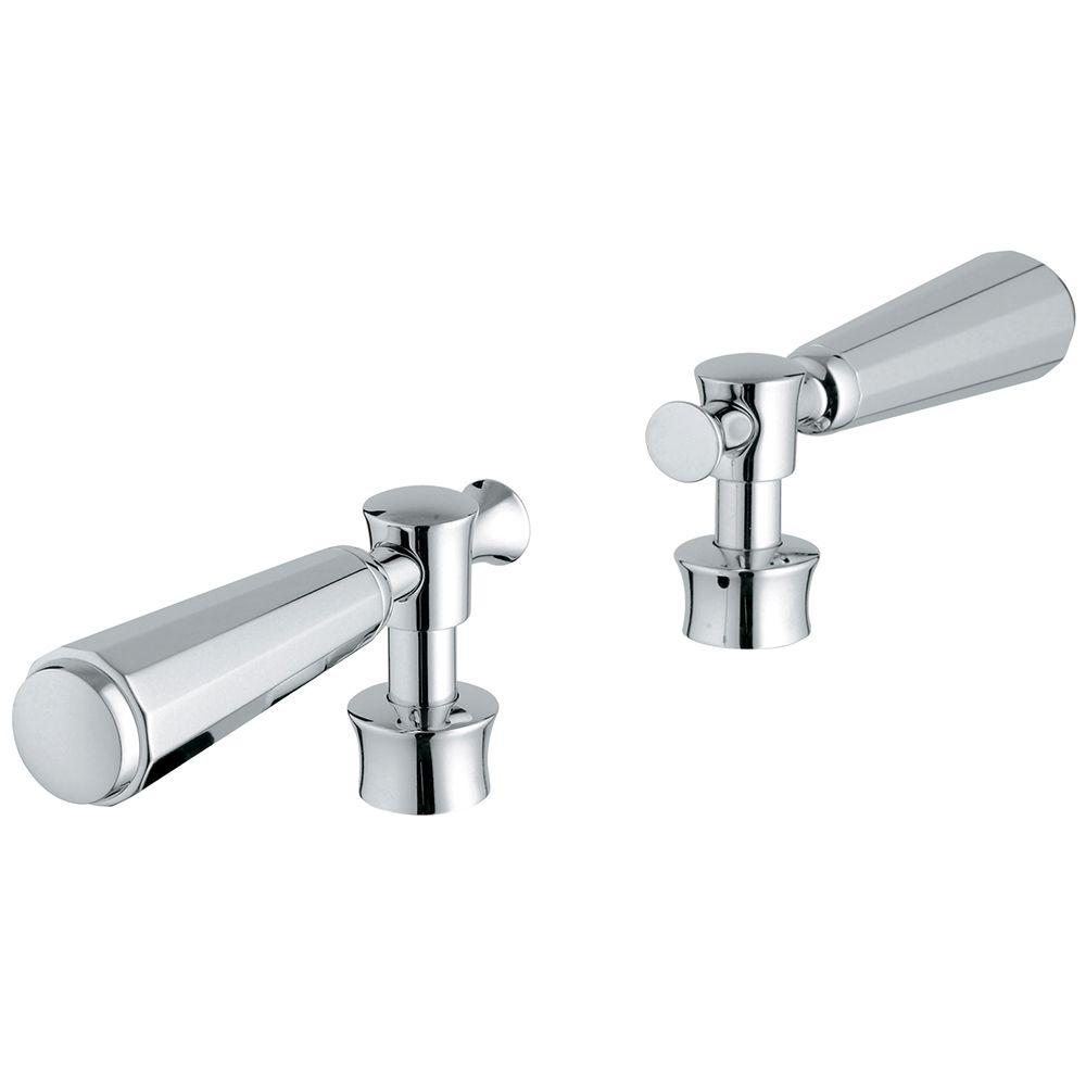 Kensington Lever Handles in Starlight Chrome