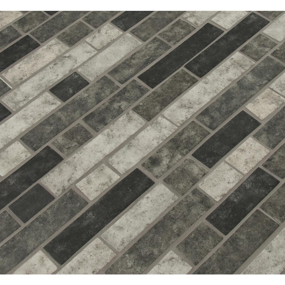 11.81 in. x 11.81 in. x 6 mm Urban Tapestry Interlocking Matte Glass Mesh-Mounted Mosaic Tile (0.98 sq. ft.)