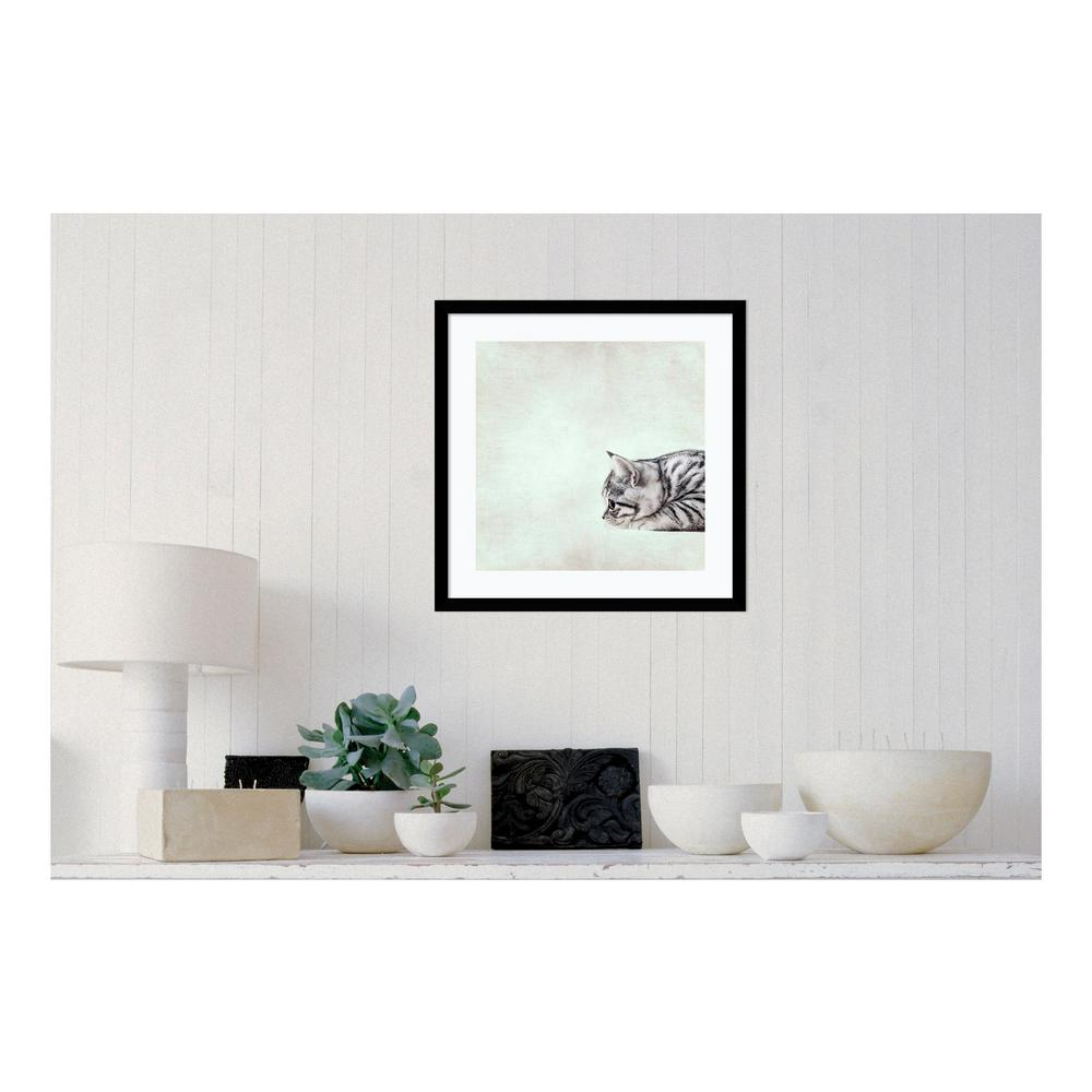 Amanti Art 21 in. W x 21 in. H 'In The Waiting Line Kitty...