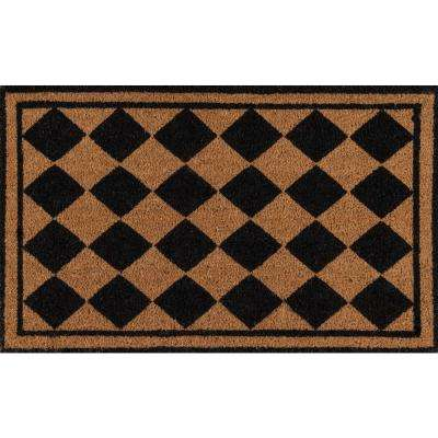 Harlequin Black 1 ft. 6 in. x 2 ft. 6 in. Doormat