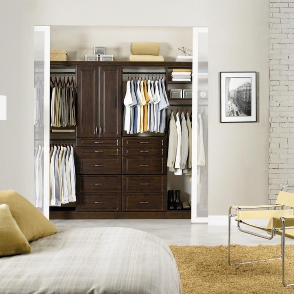 Installed Reach-in Closet Organization System