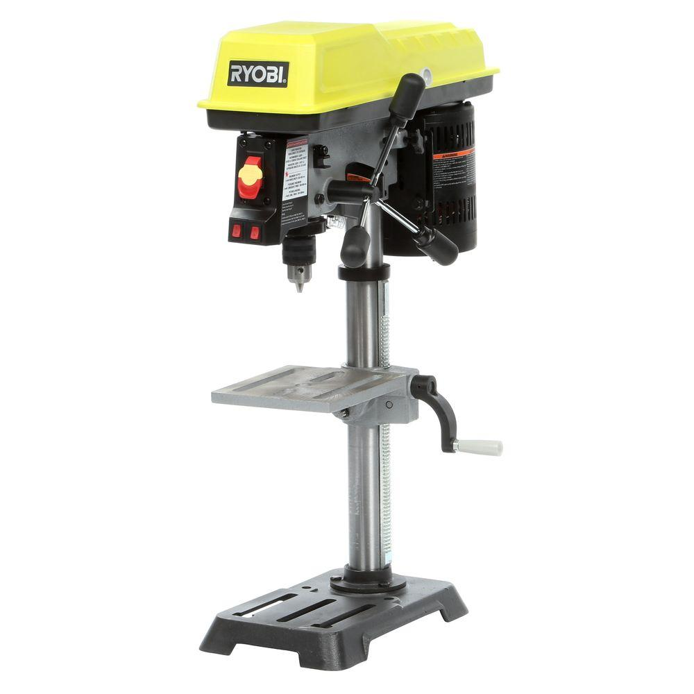 ryobi 10 in drill press with laser dp103l the home depot. Black Bedroom Furniture Sets. Home Design Ideas