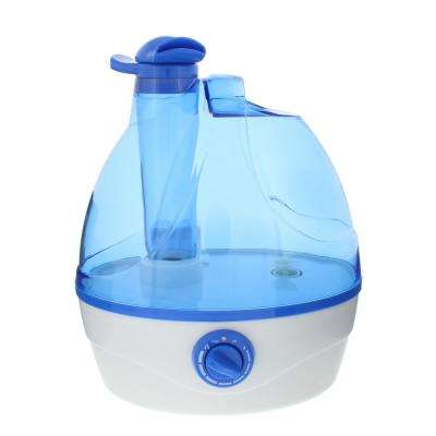 Whisper-quiet Cool Mist Portable Ultrasonic Humidifier with Dual Nozzles and Auto Shut-Off