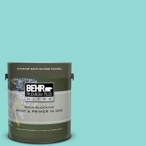 1 gal. #490A-3 Sweet Rhapsody Semi-Gloss Enamel Interior Paint and Primer in One