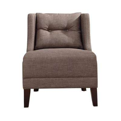 Lolita Stone Gray Linen Accent Chair